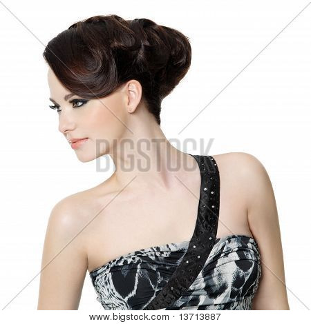 Woman With Fashion Hairstyle