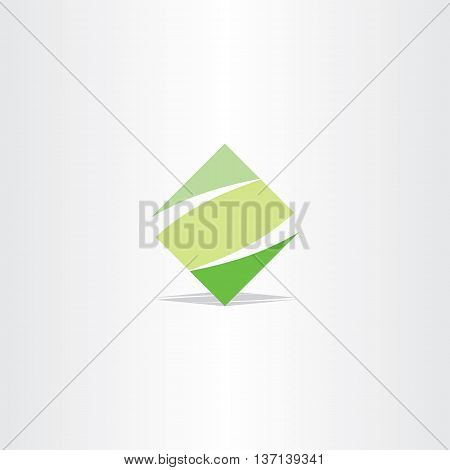 Green Square Logo Letter Z Logotype Z Vector Icon