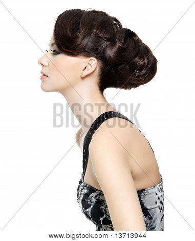 Profile Of Woman With Hairstyle