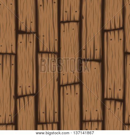 Vector wooden block seamless pattern. Cartoon wooden texture.