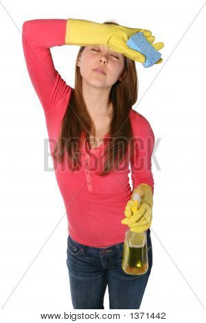 Woman Maid Cleaning