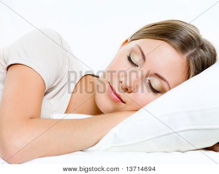 Woman Sleeps On The Sofa