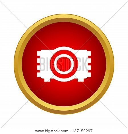 Camera icon in simple style on a white background
