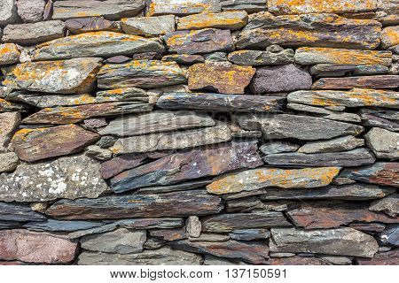rural stonewall/Typical stone wall in a Caucasus village.