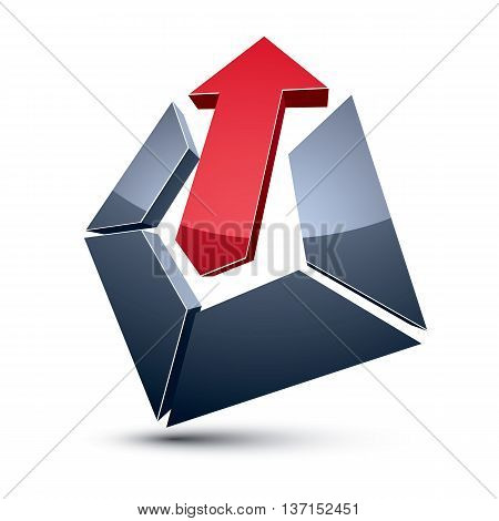 Three-dimensional Graphic Element With Simple Arrow, Business Development And Technology Innovation