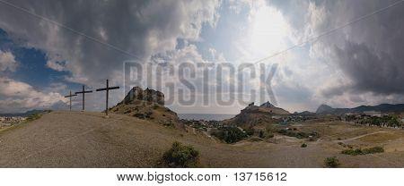 Cross On A Hill, Sudak Ukraine