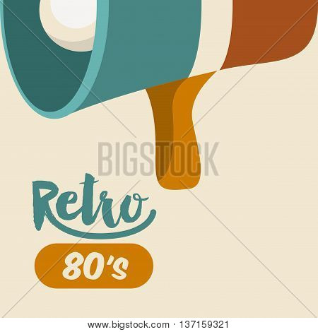 retro megaphone  poster isolated icon design, vector illustration  graphic