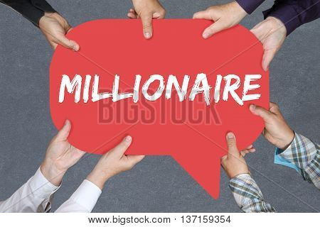 Group Of People Holding Millionaire Rich Wealth Success Successful Finances Leadership