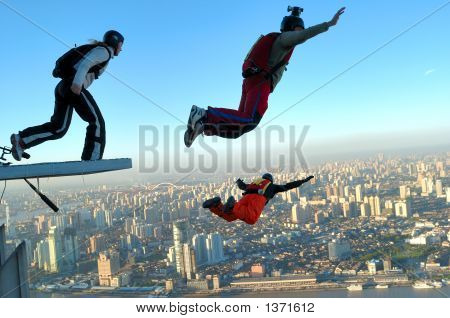 Base Jumping en Shanghai