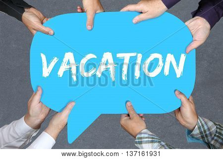 Group Of People Holding Vacation Holiday Holidays Relax Relaxed Break Free Time