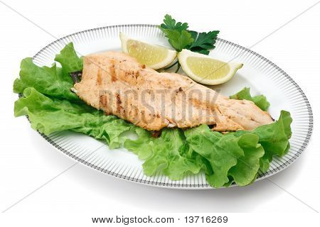 Trout Fillet With Lettuce