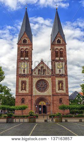 Saint Bonifacius church by day in Heidelberg, Germany