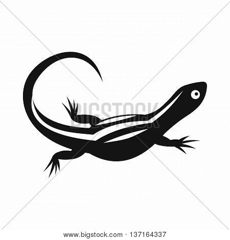 Lizard icon in simple style isolated vector illustration. Reptiles symbol