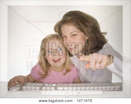 Learning Computer With Mom