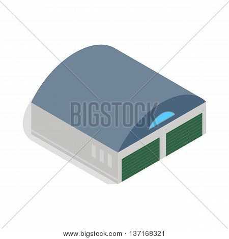 Hangar icon in isometric 3d style isolated vector illustration