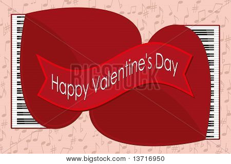 Happy Valentine's Day - Two Grand Pianos
