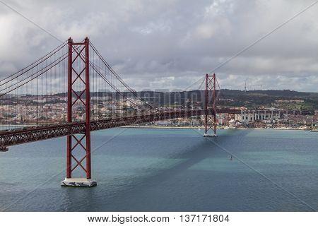Lisbon Bridge On April 25