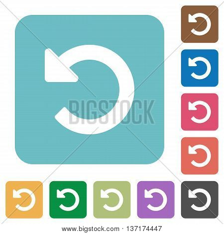 Flat undo changes icon set on round color background.