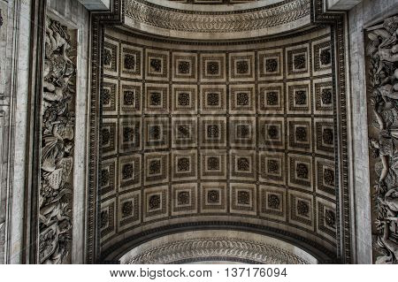 Underside Texture and Pattern of the Arc de Triomphe