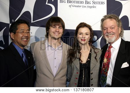 Jason Ritter, Amber Tamblyn and Russ Tamblyn at the Big Brothers Big Sisters of greater Los Angeles 'Rising Stars' 2004 Gala at the Beverly Hilton Hotel in Beverly Hills, USA on November 11, 2004.