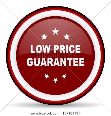 low price guarantee round glossy icon, modern design web element