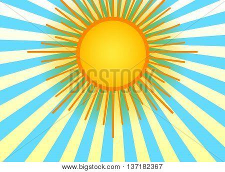 Sun On The Sky Background