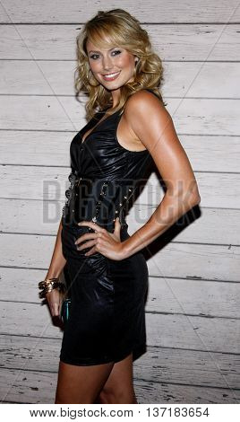 Stacy Keibler at the Maxim's 2008 Hot 100 Party held at the Paramount Studios in Hollywood, USA on May 21, 2008.
