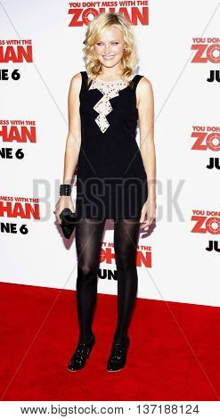 Malin Akerman at the World premiere of 'You Don't Mess With The Zohan' held at the Grauman's Chinese Theater in Hollywood, USA on May 28, 2008.