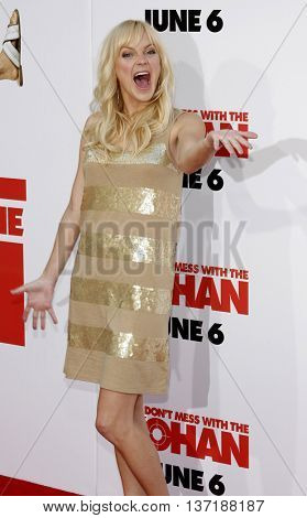 Anna Faris at the World premiere of 'You Don't Mess With The Zohan' held at the Grauman's Chinese Theater in Hollywood, USA on May 28, 2008.