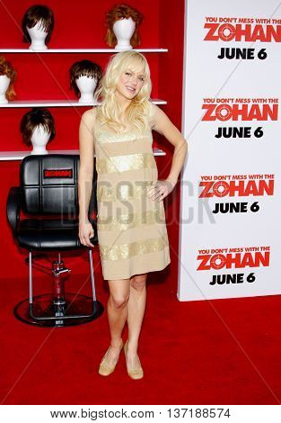 Anna Faris at the World premiere of 'You Don't Mess With The Zohan' held at the Grauman's Chinese Theater in Hollywood, USA on May 28, 2008