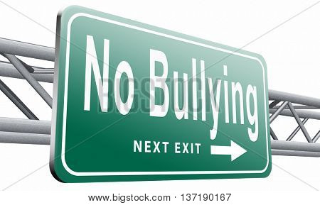 Stop bullying at school or at work stopping an online internet bully,isolated, on white background.3D illustration