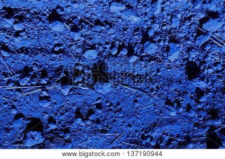 dark blue ground surface in the moonlight