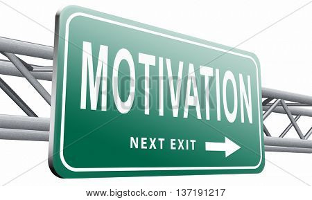 motivation and inspiration get inspired or inspire others give an energy boost optimistic with text and word, 3D illustration isolated on white background.