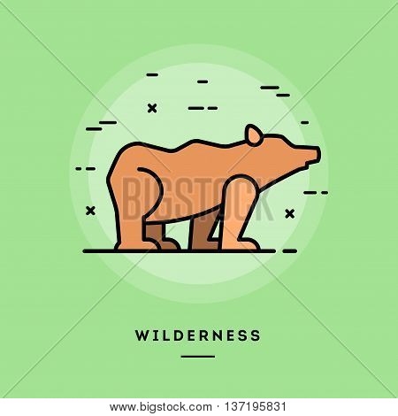 Wilderness flat design thin line banner usage for e-mail newsletters web banners headers blog posts print and more