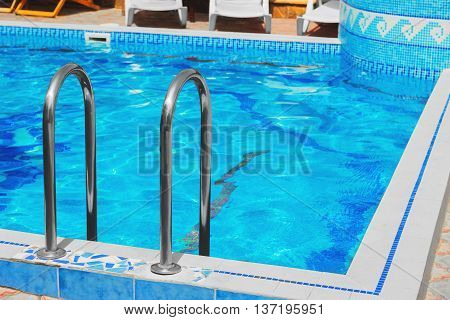 Outdoor Blue Pool Of Water