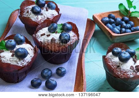 Muffins With Berries Blueberry