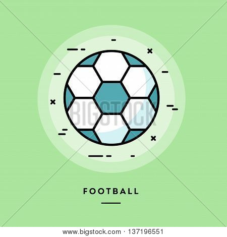 Football flat design thin line banner usage for e-mail newsletters web banners headers blog posts print and more