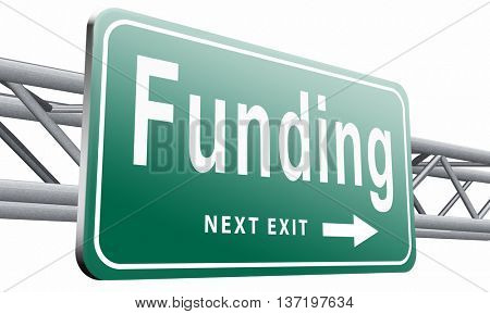 Funding for welfare collection fund raising for charity money donation for non profit organization, 3D illustration isolated on white.
