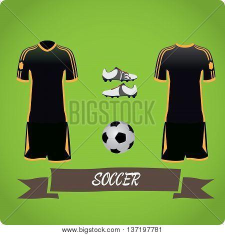 Soccer objects Sport uniform Vector illustration, soccer uniform