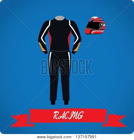 Racing objects Sport uniform Vector illustration, racing uniform