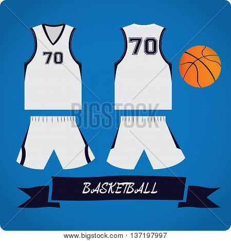Basketball objects Sport uniform Vector illustration, basketball uniform