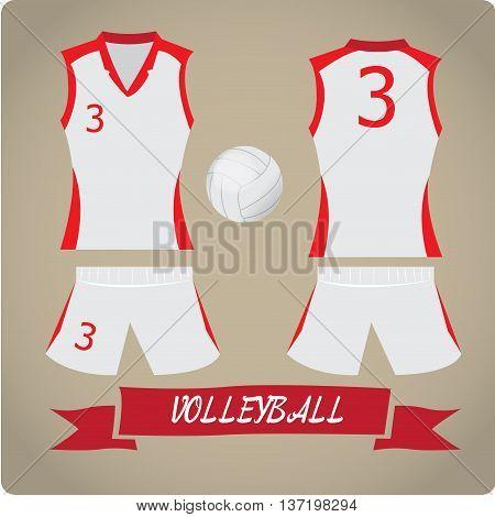 Volleyball objects Sport uniform Vector illustration, Volleyball ball