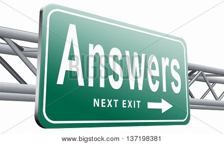search and find answers on questions, good information or info to discover truth 3D illustration isolated on white
