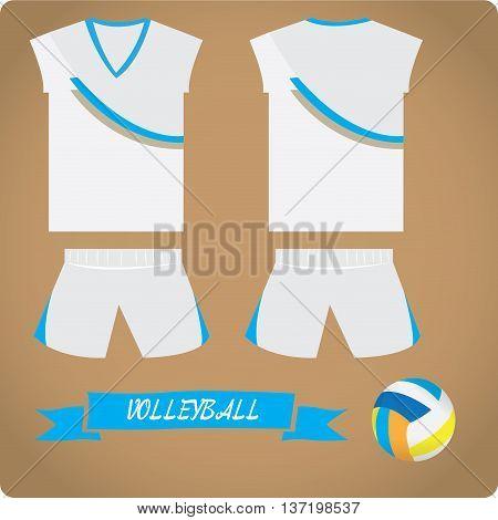 Volleyball objects Sport uniform Vector illustration, Volleyball bal