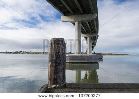 Bridge And Wharf At Goolwa, Hindmarsh Island, South Australia