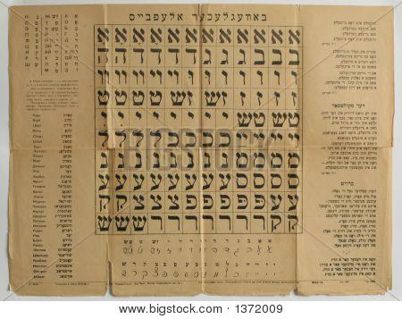 Alphabet Hebrew