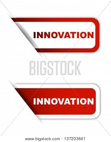 This is red vector illustration element innovation