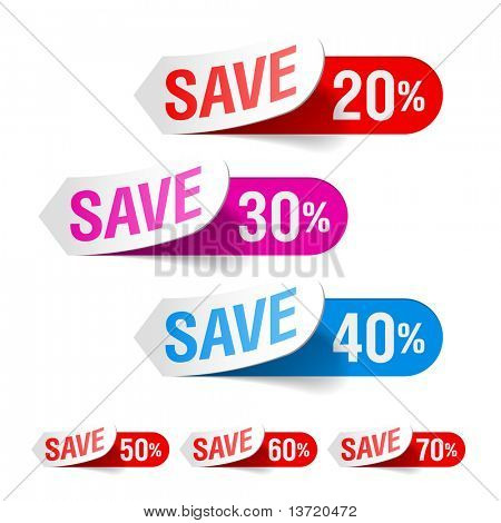 Discount labels. Vector.