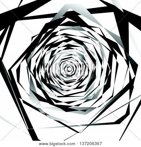 Abstract Geometric Art With Edgy, Angular Shapes. Randomly Ordered Elements.