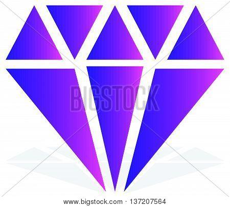 Simple Diamond, Jewelry Sign, Symbol. Precious Stone, Ruby Icon, Illustration. Expensive Jewel, Jewe